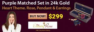 rose earrings pendant